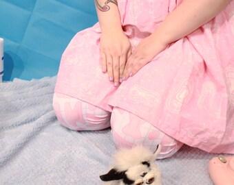 first aid tights | pastel grid fairy kei lolita plus size guro bandaid bandage medical tights nurse kawaii