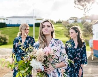 Bridesmaid Floral Robes