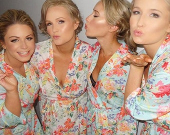 Bridesmaid Floral Robes