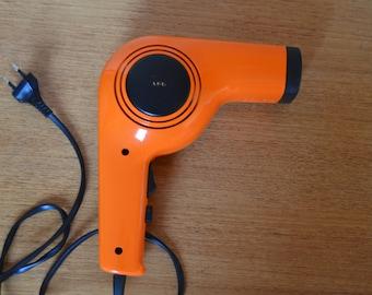 Vintage orange hairdryer from AEG, 220V