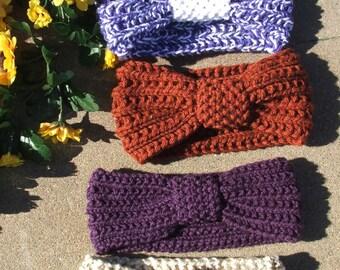 Knit ear warmer, knit headbands, turban style ear warmer