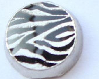 Round Zebra Floating Charm
