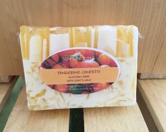 Tangerine scented shea butter glycerin soap.