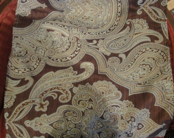 Two Pieces of Hemed Paisley Table Napkins/Never Used