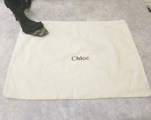 Large Chloe dust bag,  regift,  dustbag,  Chloe, storage travel upcycle, 816/637