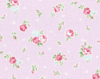Princess Rose Fabric By Lecien Shabby Chic Pink With Roses
