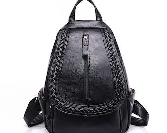 leather backpack, backpack, fashion backpack, travel bag