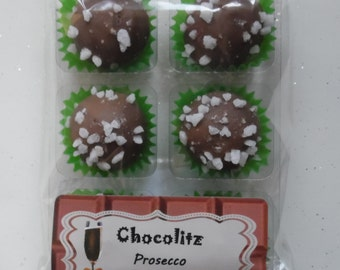6 x Prosecco Milk Chocolate Truffles - Treat Pack