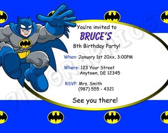Batman Birthday Invitation - Printable