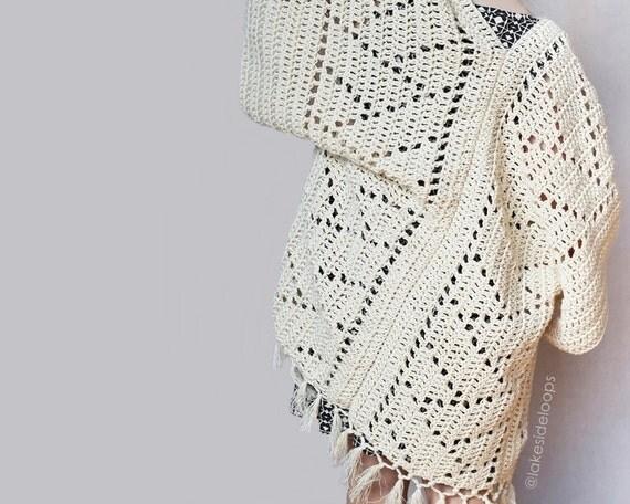 Free Crochet Pattern For Kimono : Crochet Pattern Kenzie Kimono by Lakeside Loops includes 5