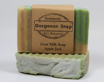 Applejack Goat Milk Soap - All Natural Soap, Handmade Soap, Homemade Soap, Handcrafted Soap