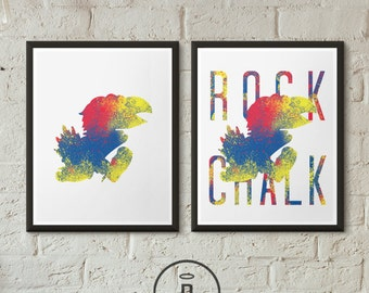 Special Edition Kansas Jayhawk Art Print - University of Kansas Jayhawks Poster