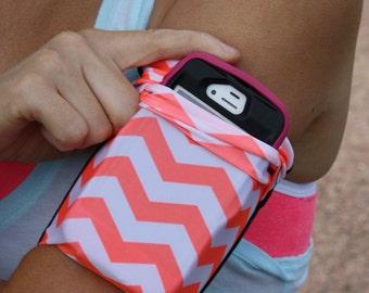 Cell Phone bras bande exécutant Jogging iPhone iPod universel ORANGE CHEVRON brassard d'entraînement