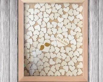Wedding Guest Book - Heart Guest Book - Wedding Guest Book Alternative - Wooden Hearts Guest Book - 3D Wedding Guest Book -Unique Guestbooks