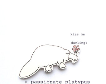 card - a passionate platypus - handmade card