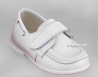 Leather baby boy shoes loafers white blue cream brown elegant baby wedding shoes baby boy baptism shoes size 4 5 6 7 8 9 US EU 17358A1832