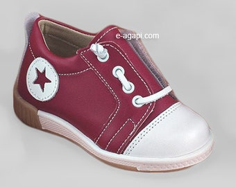 Red shoes baby boy shoes baby leather shoes baby sneakers shoes baby wedding shoes baby boy baptism shoes size 4 5 6 7 8 9 US EU17359A3060