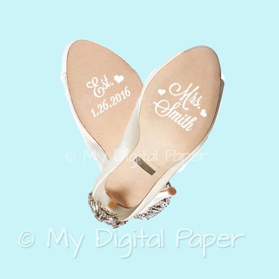 Bridal Shoe Stickers Uk