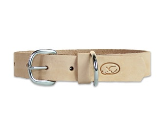 Classic Natural Leather Dog Collar
