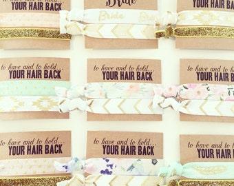 ASSORTED BOHO + FLORAL Hair Tie Favors | Bridesmaid Gift Hair Ties | Bridal Party Hair Ties, Hair Tie Bridal Shower Favors, Boho Wedding