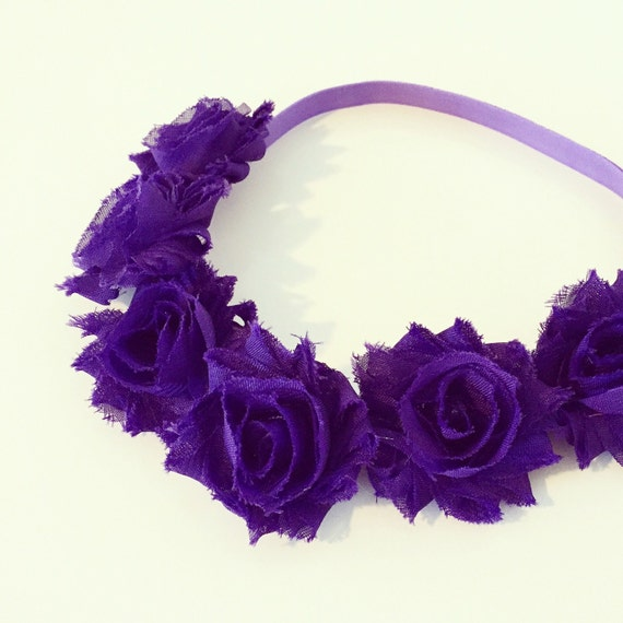 Royal Purple Flower Crown Headband | Dark Purple Flower Crown for Baby Toddlers Girls Adults, Indigo Violet Royal Purple Floral Girl Crown