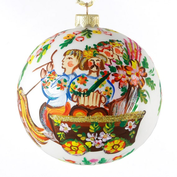 Items Similar To To Market Hand Painted Christmas Ball