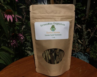 Yerba Santa,Loose Leaf,Organic Yerba Santa Clusters,Smudging Herb,Sacred Healing Incense,Greenman Organics,Natural incense,Organic Grown