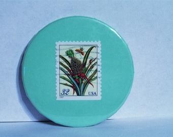 Flowering Pineapple Stamp Magnet