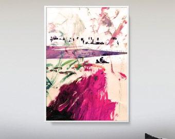 Colorful Abstract Art, Printable Abstract Art, Printable Minimal Art, Living Room Art, digital download art, abstract wall art prints