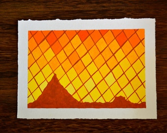 Southwest Diamond Mountain Original Oil Painting