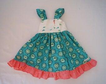 Girls twirly firefly dress
