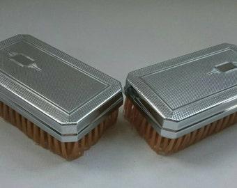 Beautiful Linek Art Deco Style Military Brushes in Box
