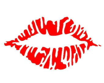 Lipstick Kiss Vinyl Decal Sticker