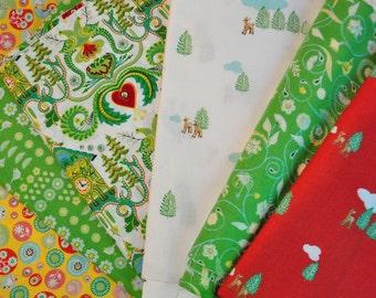 Fabric destash quilt cotton Hideaway by Lauren and Jessi Jussi Jung for Moda 6 fat quarters