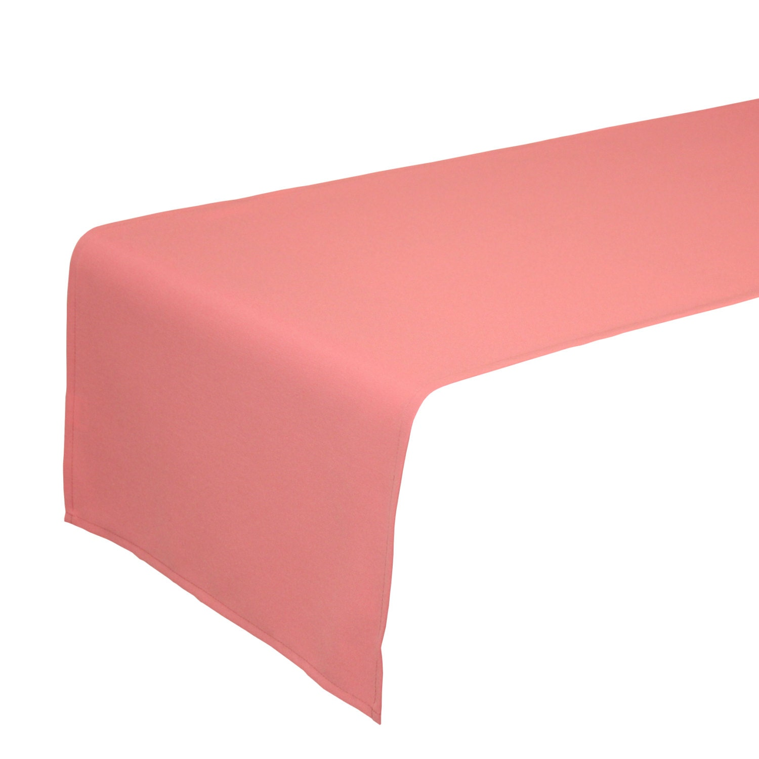 Coral table runner 14 x 108 inches perfect as salmon table for 108 table runner