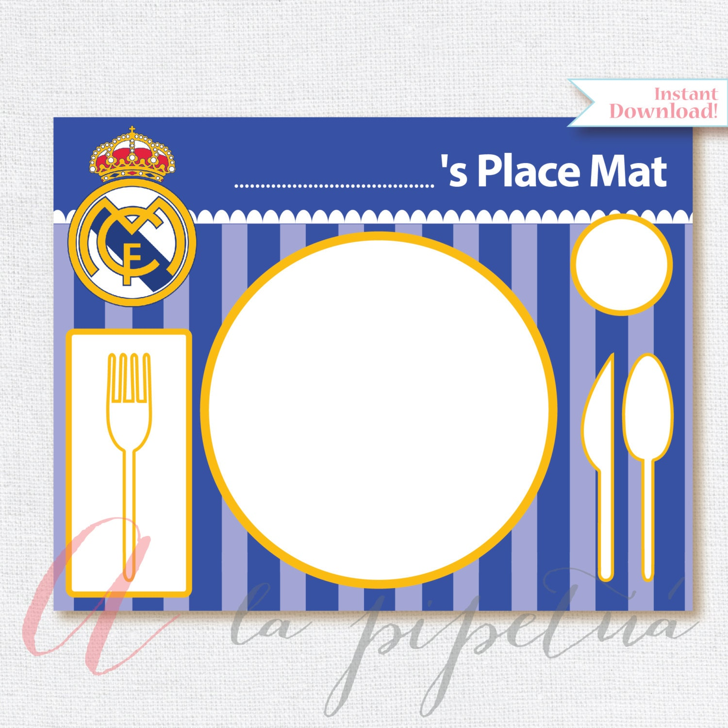Real madrid printables printable soccer place mat real for Decoration chambre real madrid