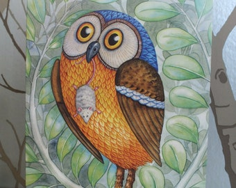 Owl & Mouse Greeting Card
