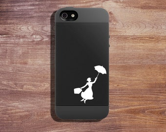 Vinyl Decal Minis - Mary Poppins - Nanny - (2 per order) Personalize Your Things With Minis