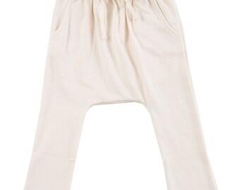 Organic Cotton Harem Sweatpants In Natural Color