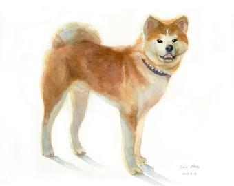Custom  Pet Portrait Painting, Dog Painting Custom, Pet Portrait Watercolor, Original Handmade painting,