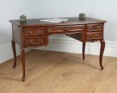 Antique French Oak  Leather Freestanding Desk (Circa 1890)