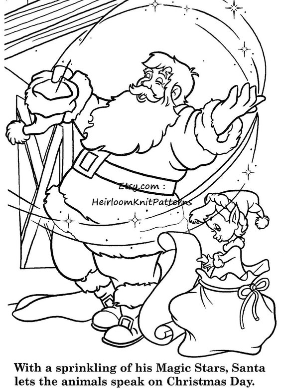 Childrens Coloring Book Christmas PDF Printable Activity Pages Craft Printables Homeschooling Instant Download From