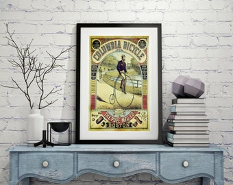 BICYCLE POSTERS Art Canvas Wall art Home Decor Vintage Old Style Wall poster Print vintage bicycle art bicycle pictures color Wall Hangings