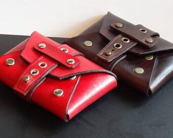 Handmade Leather Envelope Pouch, Wallet, Credit Card Holder, Firekit, Bushcraft, Groomsmen, Urban EDC,Mens Gift, Womens Gift