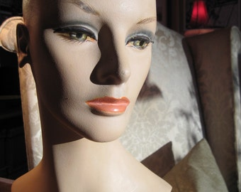 REDUCED Rare 1960's Wig Form, a lovely lady!