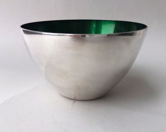 Danish Silverplated Enamel Bowl