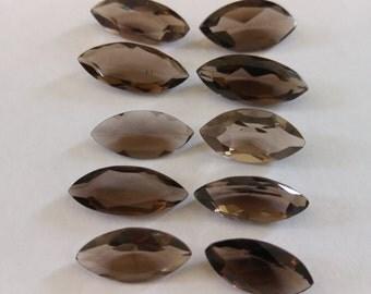10 pc's - High Quality 51.15ct. Natural Smokey Quartz Gemstone, Crystal Healing Loose  Gemstone, Item: SS313