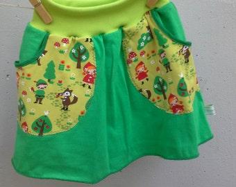jersey skirt size 3