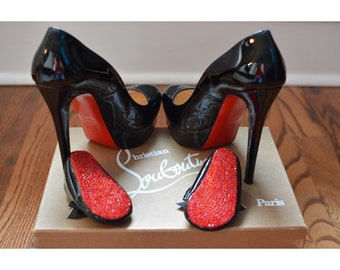 Christian Louboutin Inspired RED BOTTOM Crystal Baby Crib Shoes