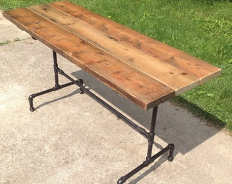 Orchard Farmhouse Table Reclaimed Wood Dining Table Industrial Dining Table  Wood Harvest Table